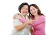 Portrait of asian senior woman and daughter