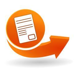 document sur bouton web orange