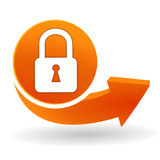 cadenas sur bouton web orange