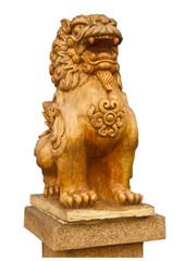 Chinese stone lion statue- the symbol of power for Chinese