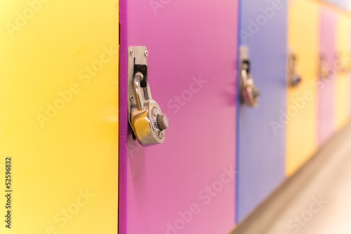 Colourful School Lockers