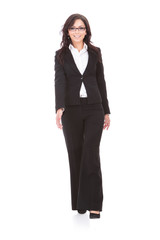 business woman walks forward
