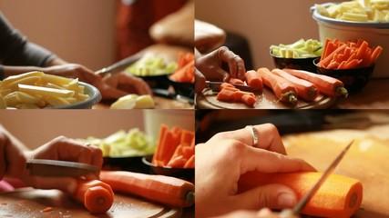 découper les légumes
