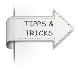 Schild Pfeil Tipps und Tricks