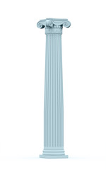 Historic column on white