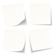 4 White Stick Notes