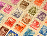 Old Stamps In Album