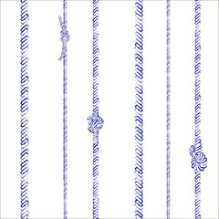 Ropes and knots seamless pattern