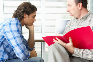 Man Having Counselling Session