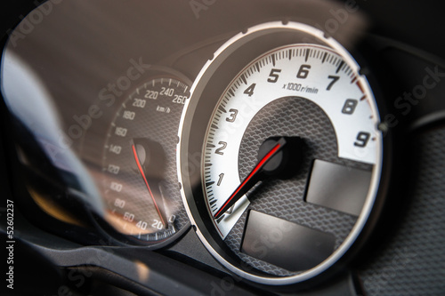 Auto speed control dashboard