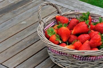 Erdbeeren frisch auf den Tisch