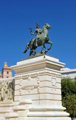Monumento a la Constitución de Cádiz, la Guerra