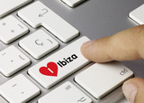 i love Ibiza keyboard key finger
