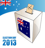 australian election day background with urn
