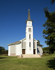 A church in a small town