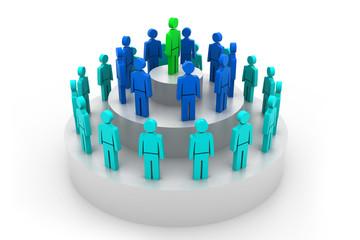 Social hierarchy Concept.