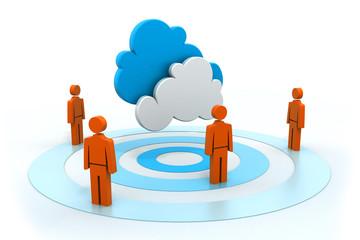 Cloud network.