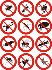 common household pests icon