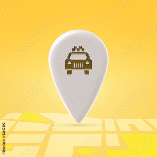 Taxi pin over map