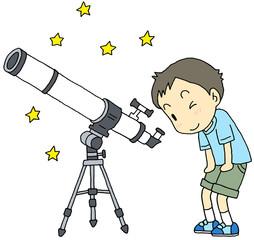 天体望遠鏡 男の子