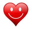 Herz rot Lachen 3d