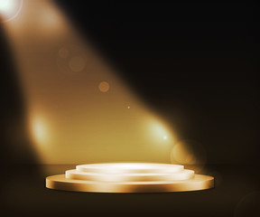 Golden Podium Spotlight Background