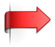 Roter Pfeil / Schild 3d