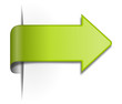Schild / Pfeil grün 3d