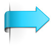 Schild / Pfeil blau 3d