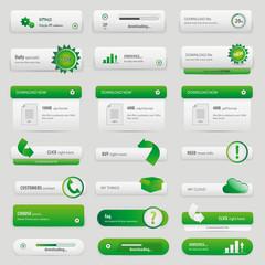 Green lot buttons