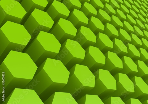 Green hexagon pattern
