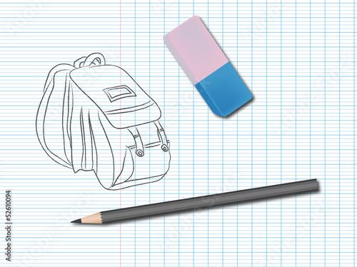 comment dessiner un sac a dos