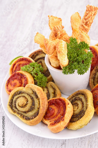assortment of finger food