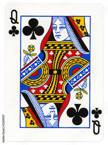 Playing Card - Queen of Clubs