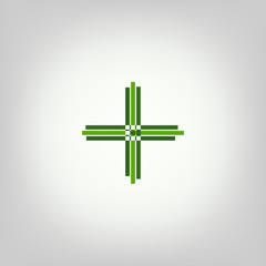Stylized cross - logo for pharmacy