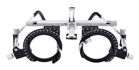 Isolated Eyesight Testing Spectacles
