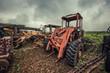 broken tractor
