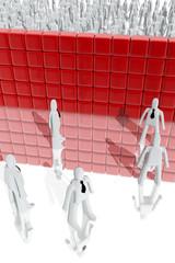Barrier between different social classes