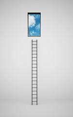 Ladder to window