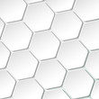 White Paper Hexagon Labels