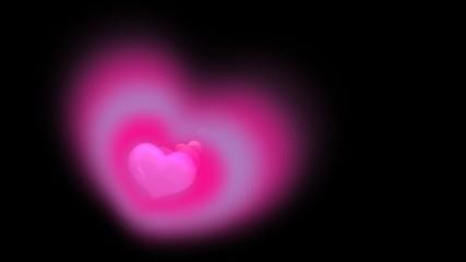 Пульсирующее сердце с альфа каналом