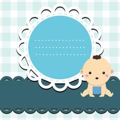 Baby boy announcement card.
