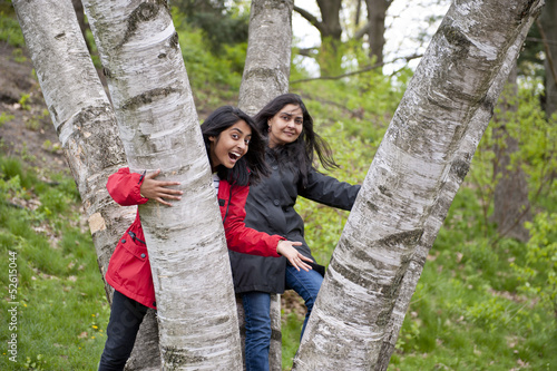 mother and daughter in outdoors