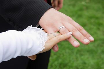 Brautpaar & Ringe, Detailaufnahme