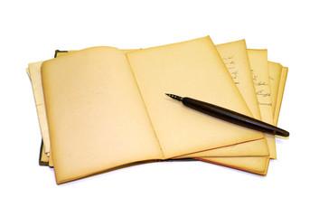 alte Schrift, Poesiealbum, Notizheft, Schulheft