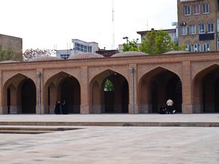 Brick vault in Blue mosque in Tabriz, Iran
