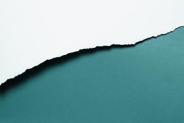 Papierabriss, schattiert, blaugrün