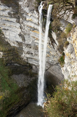 waterfall of gujuli in Basque Country