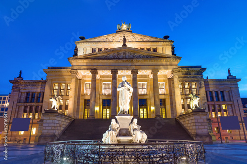 The Concert hall at the Gendarmenmarkt in Berlin at night