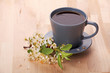Cup of coffe with flower